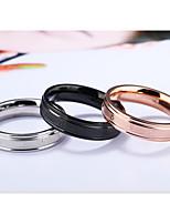 Кольцо Обручальное кольцо Мода Классика Elegant Кожа Титановая сталь Круглой формы В форме чисел Бижутерия Для Свадьба Повседневные1
