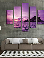 Art Print Landscape Pastoral,Five Panels Horizontal Print Wall Decor For Home Decoration
