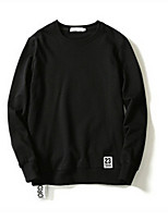 Men's Daily Sweatshirt Quotes & Sayings Round Neck Micro-elastic Cotton Long Sleeve Spring