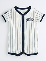 Baby Stripe One-Pieces,Cotton Summer Short Sleeve