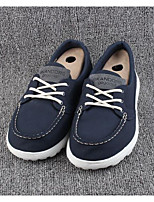 Men's Sneakers Comfort Fabric Spring Casual Navy Blue Flat