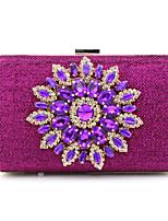 L.WEST Women's fashion Satin Evening Bag diamond