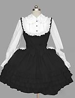 Une Pièce/Robes Doux Lolita Cosplay Vêtrements Lolita Rétro Mancheron Manches Longues Court / Mini Robe Pour Autre