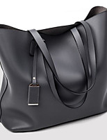 Damen Umhängetasche PU Ganzjährig Baguette Bag Reißverschluss Blau Schwarz