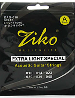 Ziko Acoustic Guitar Strings Light DAG010 Brass Steel Strings For Guitar Acoustic Strings Set guitar strings