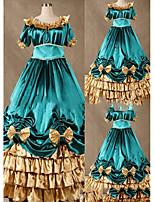One-Piece/Dress Gothic Lolita Lolita Cosplay Lolita Dress Vintage Cap 3/4 Length Sleeve Floor-length Dress For Other