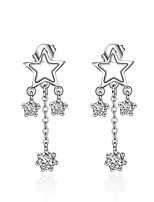 Women's Stud Earrings AAA Cubic Zirconia Tassel Zircon Platinum Plated Star Jewelry For Event/Party Gift Daily