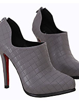 Women's Heels Comfort PU Spring Casual Comfort Dark Grey Black Flat