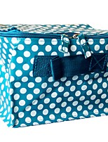 Women Cosmetic Bag Plastic All Seasons Casual Formal Office & Career Square Zipper Azure