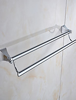 Morden Style Solid Brass  Bathroom Shelf Bathroom Double Towel Bar Bathroom Accessories