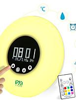 YWXLight® Wake-Up Led Light with Sunrise Simulation Digital Led Display Alarm Clock Night Light Temperature RGB Color Led Smart Clock Lamp 1PCS