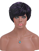 MAYSU New Style Purple Mixed Color Synthetic Wig Suitable For All Kinds Of People