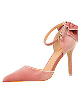 Women's Heels Leatherette Spring Summer Fall Stiletto Heel Ruby Green Blushing Pink Burgundy Champagne 4in-4 3/4in