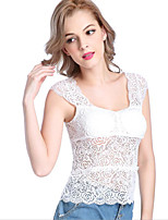 Women's Summer Lace T Shirt Sleeveless Top Tees