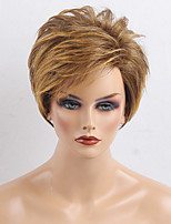 High Quality  Short Natural Wavy   Human Hair Wigs