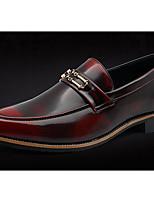 Men's Wedding Shoes Comfort Real Leather Pigskin Spring Wedding Casual Comfort Blue Ruby Black Flat