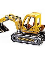 Quebra-cabeças Quebra-Cabeças 3D Blocos de construção Brinquedos Faça Você Mesmo Maquina de Escavar Papel Modelo e Blocos de Construção