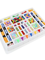 Pretend Play DIY KIT For Gift  Building Blocks Square Plastics 6 Years Old and Above Toys