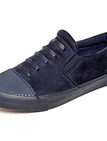 Men's Loafers & Slip-Ons Comfort Fabric Tulle Spring Casual Navy Blue Black Flat