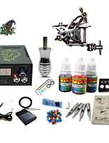 Beginner Tattoo Kit 1 Rotary Machine 3 Inks Sets Power Supply Needles G1C15A7