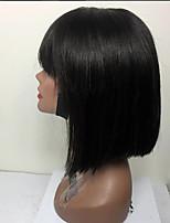 Короткие волосы боб кружева передние человеческие волосы парики с ударом 130% плотность бразильские виргинские волосы неглубокие боб парик