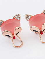 Euramerican Opal Rhinestone  Elegant Adorable Fox Ear Clips Women's Party Gift Jewelry