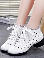Women's Dance Sneakers Tulle Sneakers Practice Ruby Black White