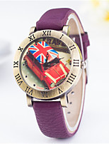 Women's Fashion Watch Quartz PU Band Red Green Purple