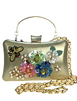 L.WEST Woman Fashion Luxury High-grade Three-dimensional Flowers Diamond Evening Bag