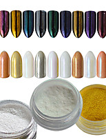 0.2g/bottle Nail Art Salon DIY Gorgeous Glitter Powder Decoration Magic Mirror Effect Powder Pigment For Nail Beauty