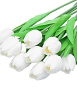 5Pcs/Bag High Quality PU Holland Mini Tulip Artificial Flower Real Touch for WeddingRoomHomeHotelParty Decoration and Holiday Gift