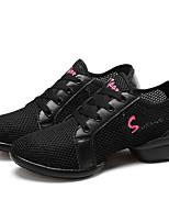 Не персонализируемая Для женщин Танцевальные кроссовки Кроссовки Тренировочные На толстом каблуке Белый Черный Красный 5 - 6,8 см