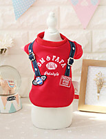 Dog Sweatshirt Dog Clothes Fashion Casual/Daily British Red Gray