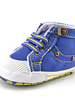 Newborn Baby Boys' Kids' Sneakers First Walkers Twill Fall Winter Party & Evening Dress Casual Beading Gore Flat Heel Blue Flat