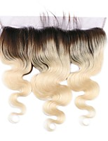 Brazilian  Human Hair  1b/613 Blonde 13*4 Lace Frontal Closure Body Wave Swiss Lace Baby Hair
