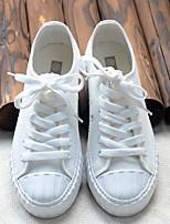 Da donna Sneakers Di corda Primavera Bianco Nero Grigio Piatto