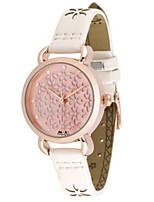 Женские Модные часы Кварцевый Кожа Группа Розовый
