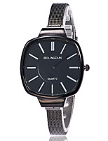 XU Ladies' Quartz Alloy Mesh Belt Contracted Thin Strap Square Dress Watch