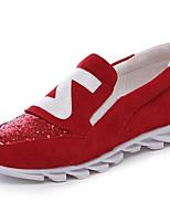Women's Sneakers Comfort Suede Spring Casual Pool Ruby Black Flat