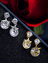 Women's Drop Earrings  Simple  Elegant Rhinestones Jewelry For Wedding Party Anniversary Daily