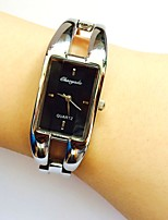 Women's Ladies' Wrist watch Quartz Alloy Band Sparkle Bangle Casual Silver