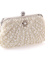 Women Evening Bag Polyester All Seasons Wedding Event/Party Formal Party & Evening Club Creative Rhinestone Pearl Detailing Clasp Lock