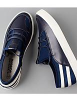 Men's Sneakers Comfort PU Spring Daily Black Blue Flat