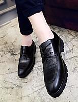 Для мужчин Мокасины и Свитер Удобная обувь Кожа Весна Повседневный Черный Красный На плоской подошве
