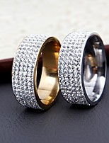 Women's  Band Rings Fashion Elegant Cubic Zirconia Titanium Steel Ring Jewelry For Wedding Anniversary