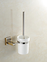 European Style Brass Wall Mounted Brass Material Toilet Brush Holder