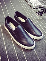 Men's Loafers & Slip-Ons Comfort Canvas Tulle Spring Casual Black White Flat