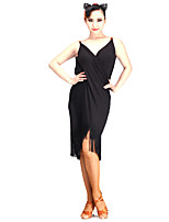 Latin Dance Dresses Women's Performance Milk Fiber