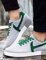 Men's Sneakers Comfort Tulle PU Spring Summer Casual Comfort Black Gray Blue Flat
