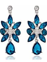 Drop Earrings Women's Girls' Euramerican Elegant Luxury Rhinestone Blue Movie Jewelry Party Daily Casual Earrings